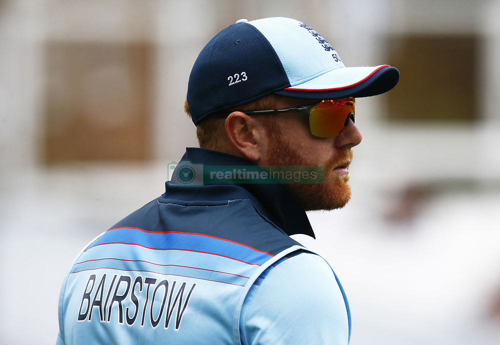 May 27, 2019 - London, England, United Kingdom - Jonny Bairstow of England.during ICC Cricket World Cup - Warm - Up between England and Afghanistan at the Oval Stadium , London,  on 27 May 2019. (Credit Image: © Action Foto Sport/NurPhoto via ZUMA Press)
