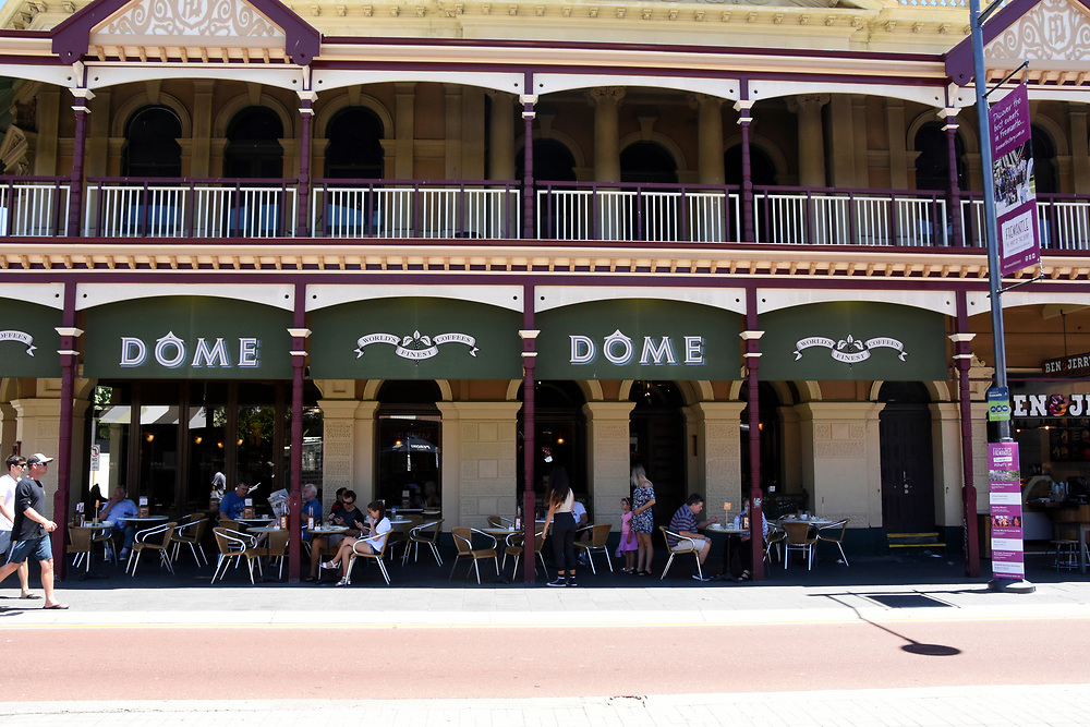 Dome Cafe on Cappuccino Strip and main strip of Freemantle Town Center