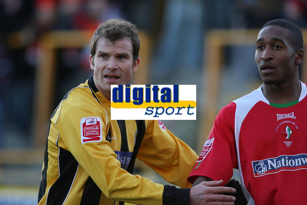 Photo: Pete Lorence.<br />Boston United v Swindon Town. Coca Cola League 2. 20/01/2007.<br />On loan from Chesterfield, Shane Nicholson kept the Swindon attack in check, but didn't prevent a 3-1 defeat.