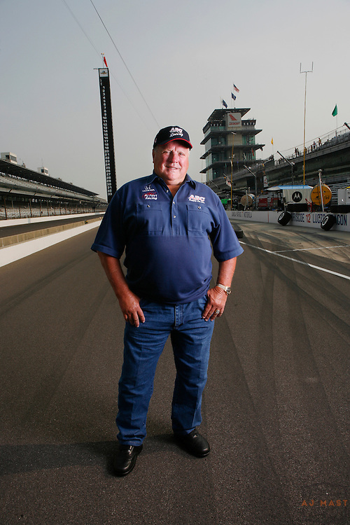 A.J. Foyt poses for a portrait on pit lane at the Indianapolis Motor SpeedwayFriday, May 25, 2007 in Indianapolis. Foyt is celebrating 50-years of involvement with the Indy 500. (Photo/AJ Mast)