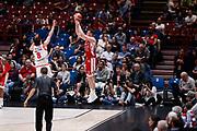 Bertans Dairis, EA7 EMPORIO ARMANI OLIMPIA MILANO vs THE FLEXX PISTOIA, 29^ Campionato Lega Basket Serie A 2017/2018, Mediolanum Forum Assago (MI) 6 maggio 2018 - FOTO: Bertani/Ciamillo