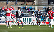 Hamilton&rsquo;s Alexandre D'Acol opens the scoring from the penalty spot - Dundee v Hamilton Academical in the Ladbrokes Scottish Premiership at Dens Park, Dundee, Photo: David Young<br /> <br />  - &copy; David Young - www.davidyoungphoto.co.uk - email: davidyoungphoto@gmail.com