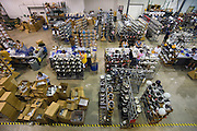 At sports equipment manufacturer Riddell in Elyria, Ohio the weeks before football season are more hectic than the weeks before Christmas. Photo taken on July 29, 2009.