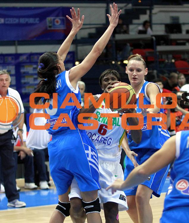 DESCRIZIONE : Ostrawa Repubblica Ceca Czech Republic Women World Championship 2010 Campionato Mondiale Preliminary Round Senegal Greece<br /> GIOCATORE : Awa GUEYE<br /> SQUADRA : Senegal<br /> EVENTO : Ostrawa Repubblica Ceca Czech Republic Women World Championship 2010 Campionato Mondiale 2010<br /> GARA : Senegal Greece Senegal Grecia<br /> DATA : 25/09/2010<br /> CATEGORIA : <br /> SPORT : Pallacanestro <br /> AUTORE : Agenzia Ciamillo-Castoria/H.Bellenger<br /> Galleria : Czech Republic Women World Championship 2010<br /> Fotonotizia : Ostrawa Repubblica Ceca Czech Republic Women World Championship 2010 Campionato Mondiale Preliminary Round Senegal Greece<br /> Predefinita :