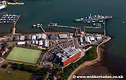 aerial photograph of Portsmouth Hampshire UK