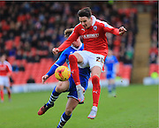 Adam Hammill shot during the Sky Bet League 1 match between Barnsley and Rochdale at Oakwell, Barnsley, England on 23 January 2016. Photo by Daniel Youngs.