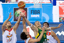 Robertas Javtokas of Lithuania during the EuroBasket 2009 Group F match between Spain and Lithuania, on September 14, 2009 in Arena Lodz, Hala Sportowa, Lodz, Poland.  (Photo by Vid Ponikvar / Sportida)