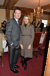 EWEN VENTERS and GRETA BELLAMACINA at a lunch hosted by Fortnum & Mason, Piccadilly, London on 29th January 2015 in honour of Marco Pierre White and the publication of White Heat 25.