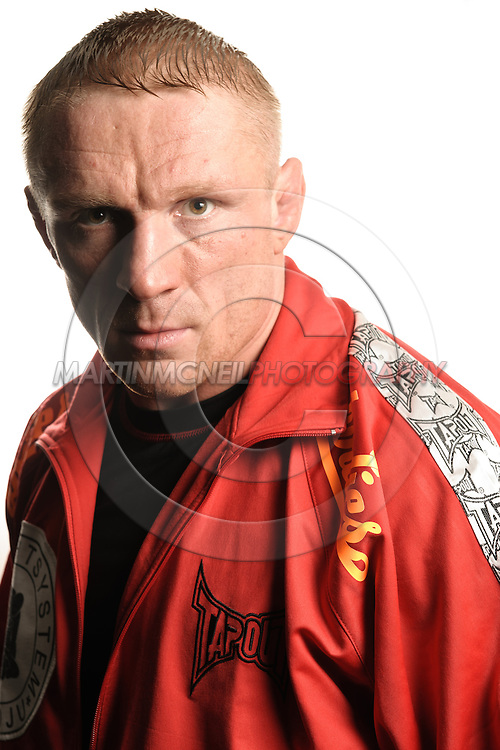 A portrait of mixed martial arts athlete Dennis Siver