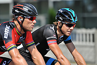 Thor HUSHOVD (Nor), Edvald BOASSON HAGEN (Nor), during the UCI World Tour, 71th Tour of Poland 2014, Stage 1, Gdansk - Bydgoszcz  (226Km), on August 3, 2014. Photo Tim de Waele / DPPI