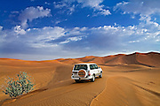 Desert driving in the United Arab Emirates