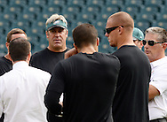Philadelphia Eagles head coach Doug Pederson walks the field before the start of the Eagles - Browns football game September 11, 2016 at Lincoln Financial Field in Philadelphia, Pennsylvania.  (Photo by William Thomas Cain)