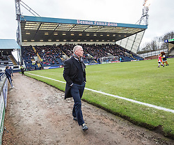 Raith Rovers manager John Hughes first game. Raith Rovers 1 v 1 Hibernian, Scottish Championship game played 18/2/2017 at Starks Park.