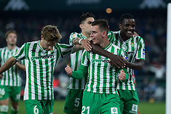 December 9, 2018 - Seville, Andalucía, Spain - Betis players celebrate the first goal for Real Betis during the LaLiga match between Real Betis and Rayo in Benito Villamarín Stadium (Seville) (Credit Image: © Javier MontañO/Pacific Press via ZUMA Wire)
