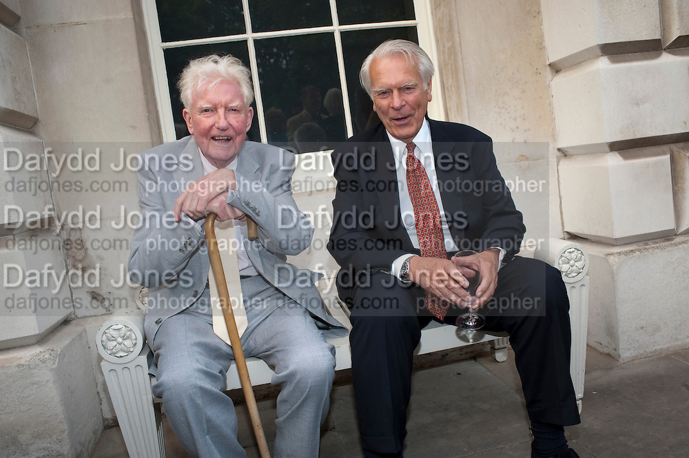 PAUL JOHNSON; LORD DAVID OWEN, David Campbell and Knopf host the 20th Anniversary of the revival of Everyman's Library. Spencer House. St. James's Place. London. 7 July 2011. <br /> <br />  , -DO NOT ARCHIVE-&copy; Copyright Photograph by Dafydd Jones. 248 Clapham Rd. London SW9 0PZ. Tel 0207 820 0771. www.dafjones.com.