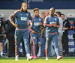 Saido Berahino of West Bromwich Albion walks out with team mates prior to kick off against Southampton after tweeting he will never play for Jeremy Peace and West Bromwich Albion again - Mandatory byline: Dougie Allward/JMP - 07966386802 - 12/09/2015 - FOOTBALL - The Hawthorns -Birmingham,England - West Brom v Southampton - Barclays Premier League