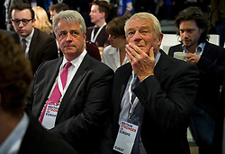 © Licensed to London News Pictures. 12/10/2015. London, UK. ANDREW LANSLEY MP and LORD PADDY ASHDOWN at the event. The launch of the Britain Stronger in Europe campaign at the Truman Building in London. The campaign is being by led by Former M&S chairman, Lord Stuart Rose. Photo credit: Ben Cawthra/LNP