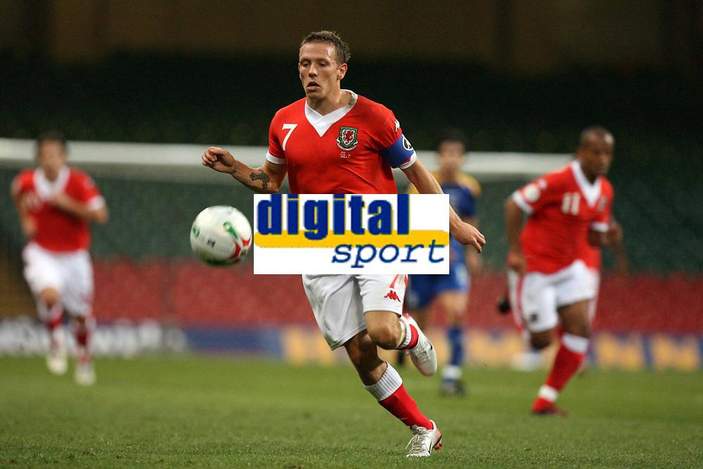 Photo: Rich Eaton.<br /> <br /> Wales v Cyprus. UEFA European Championships 2008 Qualifying. 11/10/2006. captain of Wales Craig Bellamy