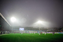 Stadium in rain during football match between HNK Rijeka and HNK Hajduk Split in Round #15 of 1st HNL League 2016/17, on November 5, 2016 in Rujevica stadium, Rijeka, Croatia. Photo by Vid Ponikvar / Sportida
