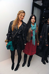 Left to right, sisters PRINCESS ELIZABETH THURN & TAXIS and PRINCESS MARIA THERESIA THURN & TAXIS at an exhibition of paintings by artist Rene Richard at the Scream Gallery, Bruton Street, London on 3rd April 2008.<br />