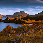 Cul Mor, Cul Beag and Stac Pollaidh from Loch Buine Moire