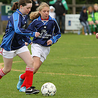 Action from the U13 Girls Cup Final between Newmarket-on-Fergus who defeated Connolly Celtic in the Final. - Photograph by Flann Howard