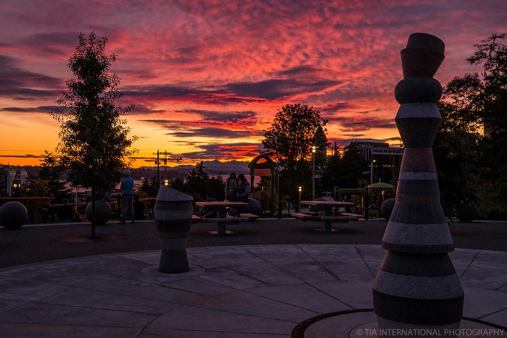 Yesler Terrace Park @ Sunset