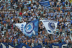 August 19, 2018 - Lisbon, Portugal - Porto's supporters during the Portuguese League football match Belenenses vs FC Porto at the Jamor stadium in Lisbon on August 19, 2018. (Credit Image: © Pedro Fiuza via ZUMA Wire)