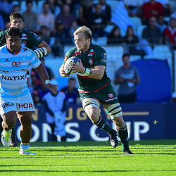 Luke Hamilton of Leicester during the European Rugby Champions Cup match between Racing 92 and Leicester Tigers on October 14, 2017 in Colombes, France. (Photo by Dave Winter/Icon Sport)