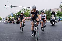 A happy Dani King after Chloe's win - Tour of Chongming Island 2016 - Stage 2. A 113km road race on Chongming Island, China on May 7th 2016.