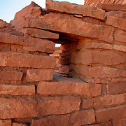A window to the past, in the Lomaki Pueblo ruins - Wupatki National Monument, AZ