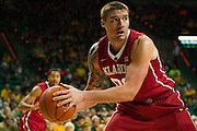 WACO, TX - JANUARY 24: Ryan Spangler #00 of the Oklahoma Sooners grabs a rebound against the Baylor Bears on January 24, 2015 at the Ferrell Center in Waco, Texas.  (Photo by Cooper Neill/Getty Images) *** Local Caption *** Ryan Spangler