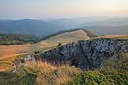 Kralimarkova hole landmark in Central Balkan, Kumanitsa ridge