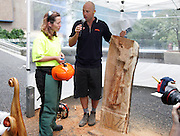 Stihl Chainsaw Awareness Week, Aotea Square, Auckland, Monday 14 April 2008. Photo: Renee McKay/PHOTOSPORT
