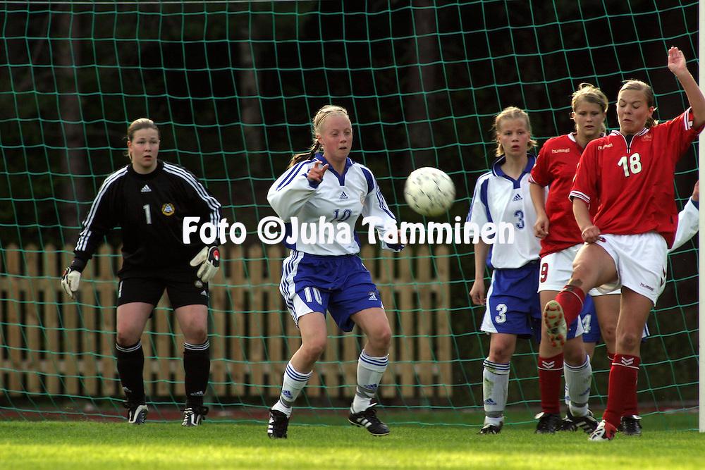 23.05.2003, Eerikkil?n urheiluopisto, Tammela, Finland..Girls under-17 Friendly International Match, Finland v Denmark..Anna Bang - Finland.©Juha Tamminen