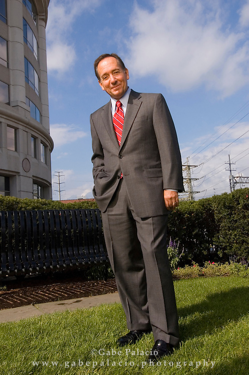 Bob Daleo, CFO of Thomson Corp outside the company headquarters in Stamford, Ct. (Photo by Gabe Palacio)