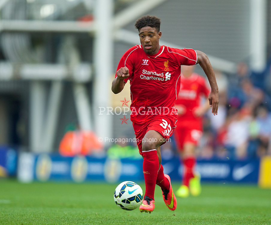 PRESTON, ENGLAND - Saturday, July 19, 2014: Liverpool's Jordan Ibe in action against Preston North End during a preseason friendly match at Deepdale Stadium. (Pic by David Rawcliffe/Propaganda)