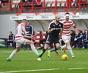 Dundee&rsquo;s Gary Harkins goes past Hamilton&rsquo;s Darian MacKinnon - Hamilton v Dundee, Ladbrokes Scottish Premiership at New Douglas Park<br />  <br />  - &copy; David Young - www.davidyoungphoto.co.uk - email: davidyoungphoto@gmail.com