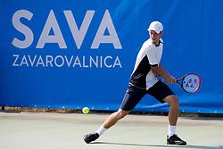 David Poljak (CZE) play against Altug Celikbilek (TUR) at ATP Challenger Zavarovalnica Sava Slovenia Open 2018, on August 6, 2018 in Sports centre, Portoroz/Portorose, Slovenia. Photo by Urban Urbanc / Sportida