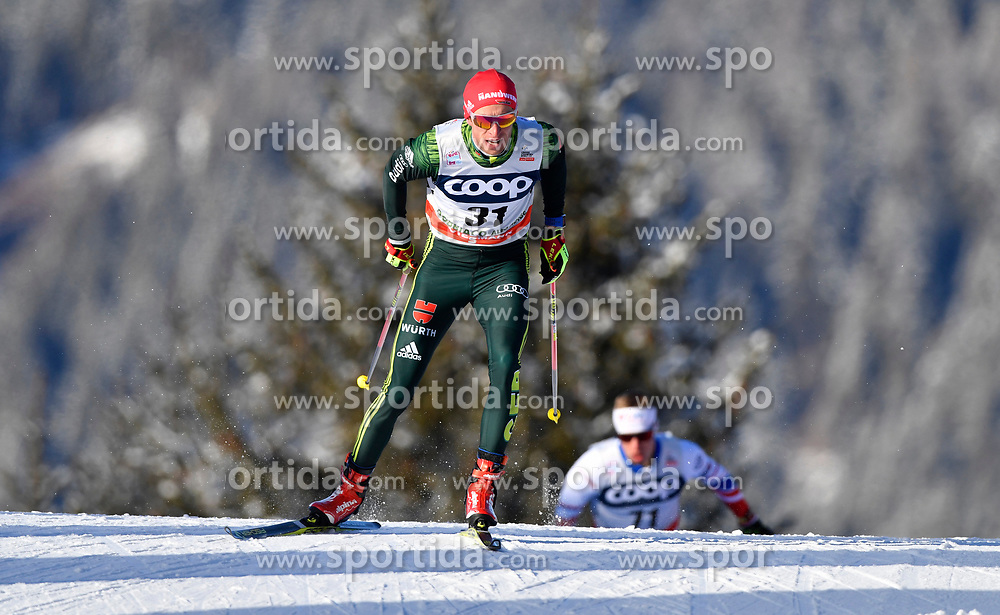 16.12.2017, Nordic Arena, Toblach, ITA, FIS Weltcup Langlauf, Toblach, Herren, 15 km, im Bild Florian Notz (GER) // Florian Notz of Germany during men's 15 km of the FIS Cross Country World Cup at the Nordic Arena in Toblach, Italy on 2017/12/16. EXPA Pictures &copy; 2017, PhotoCredit: EXPA/ Nisse Schmidt<br /> <br /> *****ATTENTION - OUT of SWE*****