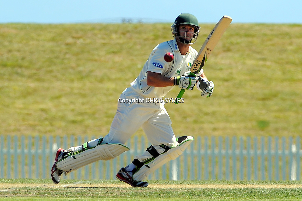 Stages Carl Cachopa during Day two of the Plunket Shield cricket - Canterbury Wizards v Central Stags at Saxton Oval, Nelson, New Zealand. Saturday 10 March 2012. Photo: Chris Symes/www.photosport.co.nz