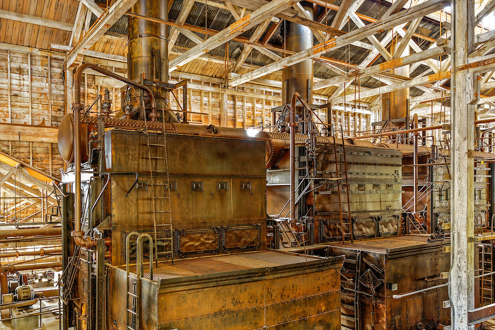 Inside the former power plant in the old mining town of Kennecott, AK.