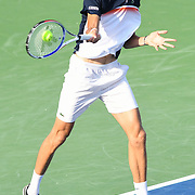 DANIIL MEDVEDEV hits a forehand at the Rock Creek Tennis Center.