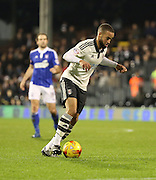 Fulham defender Ashley (Jazz) Richards dribbling during the Sky Bet Championship match between Fulham and Ipswich Town at Craven Cottage, London, England on 15 December 2015. Photo by Matthew Redman.