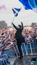 The Script play the main stage. Lead singer Danny O'Donoghue. Saturday, T in the Park 2013.<br /> &copy;Michael Schofield.
