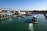 Blick auf den Hafen, Friedrichshafen, Bodensee, Baden-Württemberg, Deutschland