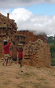 Children working at a local brick factory near Fianarantsoa
