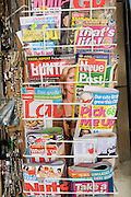 Cyprus, Polis, English magazine rack