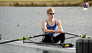 Eton, GREAT BRITAIN,  Josh BUTLER, LM1X, waits at the Start, GB Trials 3rd Winter assessment at,  Eton Rowing Centre, venue for the 2012 Olympic Rowing Regatta, Trials cut short due to weather conditions forecast for the second day Sunday  13/02/2011   [Photo, Karon Phillips/Intersport-images]