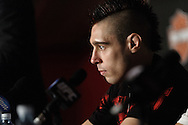 """MANCHESTER, ENGLAND, NOVEMBER 14, 2009: Dan Hardy is pictured during the post-fight press conference for """"UFC 105: Couture vs. Vera"""" inside the MEN Arena in Manchester, England"""